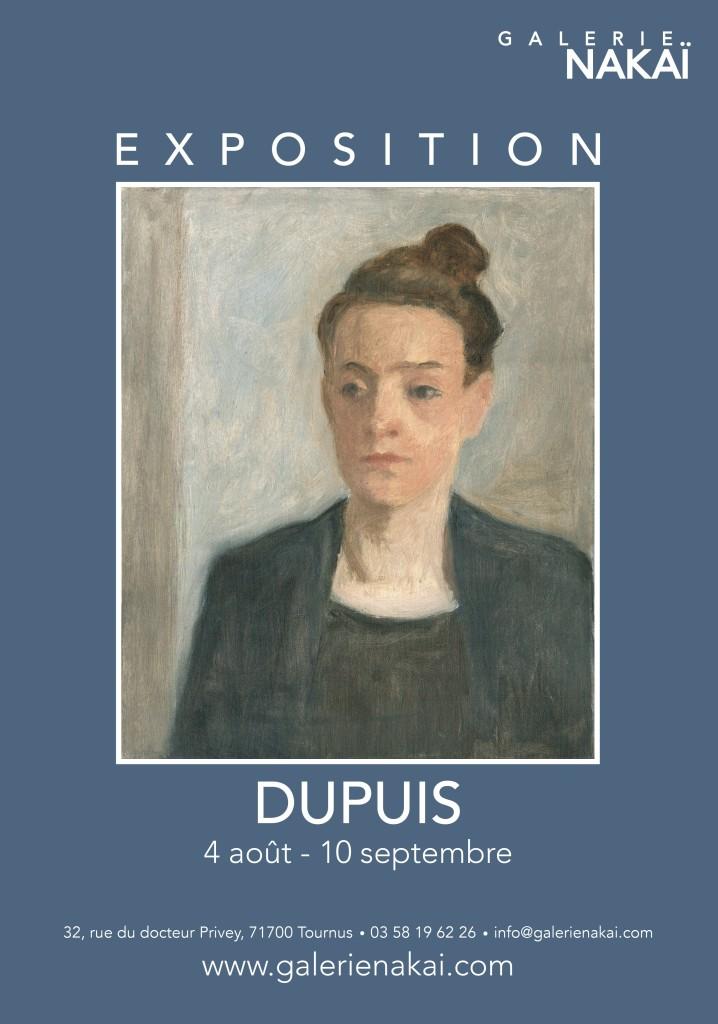 François Dupuis artiste peintre, sculpteur - affiche Galerie Nakai expo été 2017