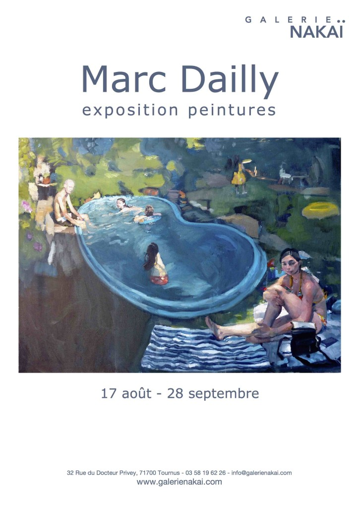 Marc Dailly affiche piscine