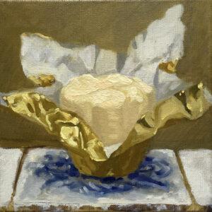Beurre sur tuile / Butter on tile oil painting